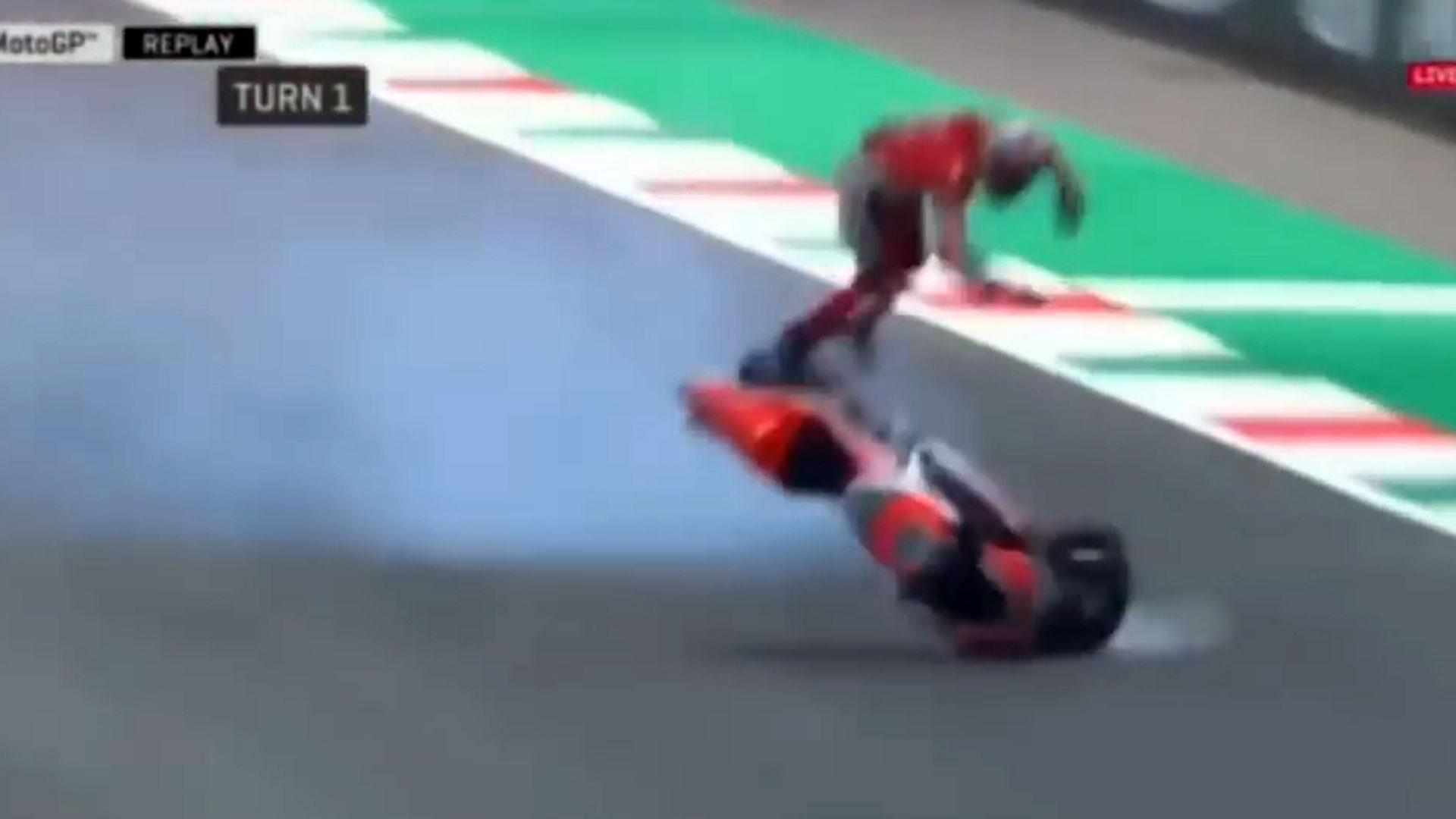 Resultado de imagen para El impactante accidente de un piloto de Moto GP a 350 km/h