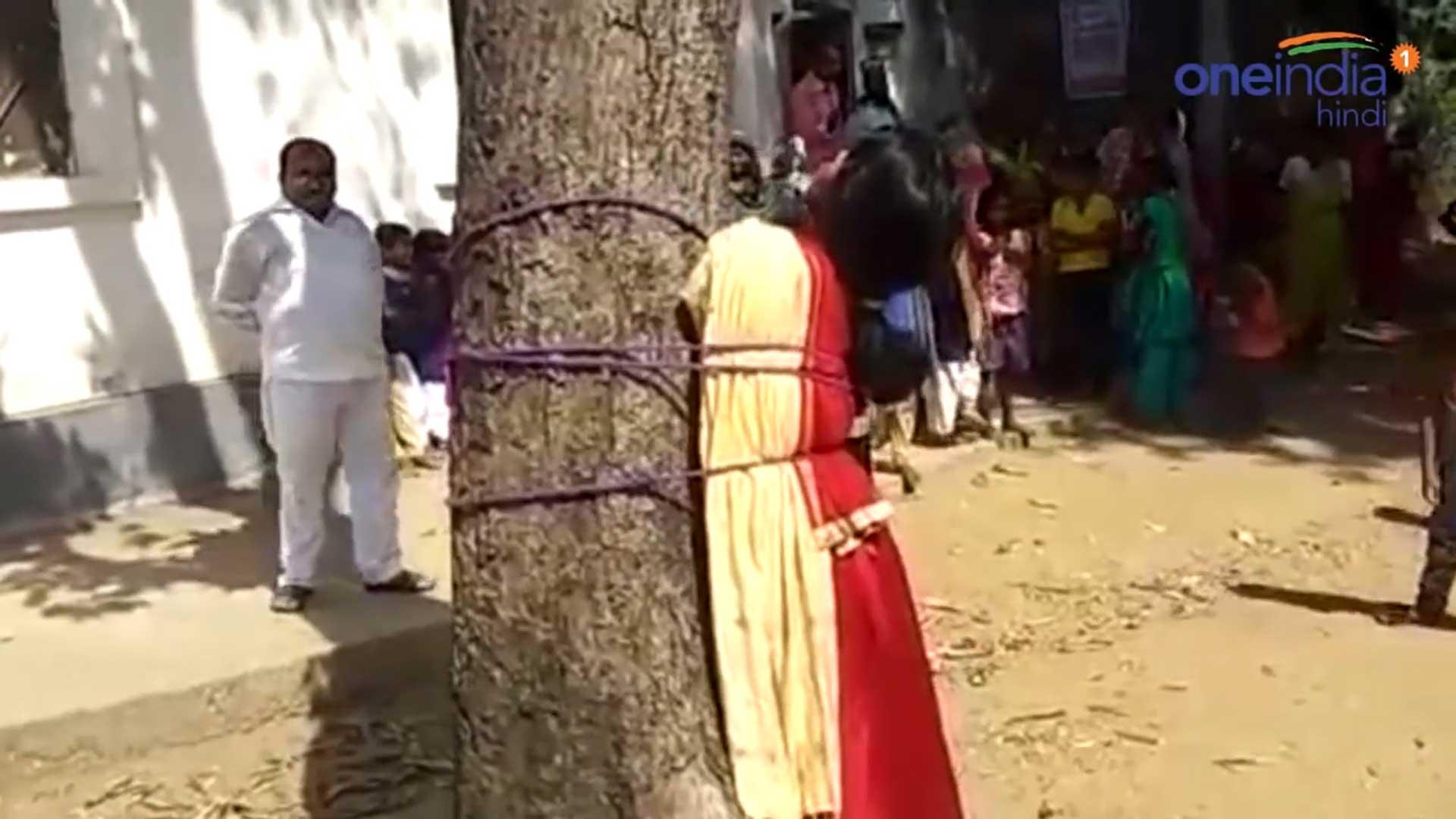Resultado de imagen para Azotan a joven musulmana en público por fugarse con su novio hindú